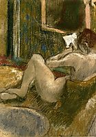 Nude from the Rear, Reading , c.1885, degas