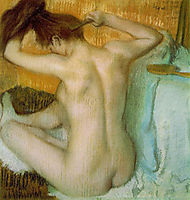 Nude woman combing her hair, 1888-1890, degas