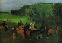 On the Racecourse, c.1862, degas