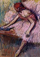 Pink Dancer, c.1896, degas