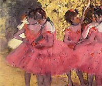 The Pink Dancers, Before the Ballet, 1884, degas