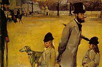 Place de la Concorde, 1875, degas