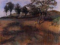 Plowed Field, c.1890, degas