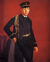 Portrait of Achille Degas, 1857, degas