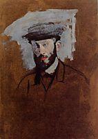 Portrait of Eugene Manet (study), c.1875, degas