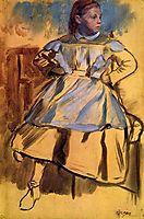 Portrait of Giulia Bellelli (sketch), 1860, degas