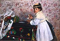 Portrait of Hortense Child Valpinçon, 1869, degas