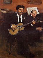 Portrait of Lorenzo Pagans, Spanish tenor, and Auguste Degas, the artist-s father, c.1869, degas