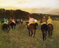 Race Horses at Longchamp, 1874, degas