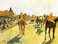 Racehorses before the Stands, 1872, degas