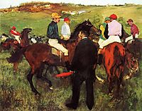 Racehorses at Longchamp, 1875, degas