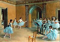 Rehearsal on stage, 1874, degas