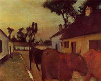 Return of the Herd, c.1898, degas