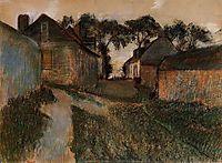Rue Quesnoy, Saint-Valery-sur-Somme, c.1898, degas