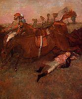 Scene from the Steeplechase - the Fallen Jockey, 1866, degas