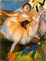 Seated Dancer, c.1880, degas