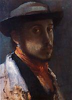 Self Portrait in a Soft Hat, 1858, degas