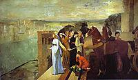 Semiramis Building Babylon, 1861, degas