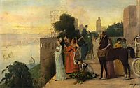 Semiramis Building a City, 1861, degas