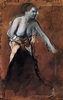 Standing Female Figure with Bared Torso, c.1868, degas