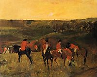 The Start of the Hunt, c.1865, degas