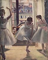 Three Dancers in an Exercise Hall, degas