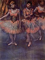 Three Dancers before Exercise, c.1880, degas
