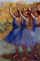 Three Dancers in Purple Skirts, c.1898, degas