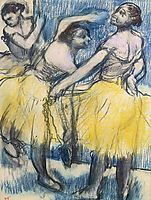 Three Dancers in Yellow Skirts, c.1904, degas