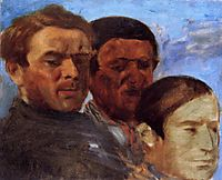 Three Heads, c.1871, degas