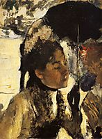 Tuileries, the woman with a parasol, 1877, degas