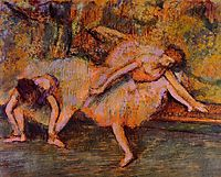 Two Dancers on a Bench, c.1905, degas