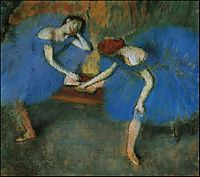Two Dancers in Blue, c.1899, degas