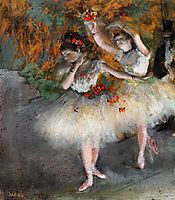 Two Dancers Entering the Stage, c.1878, degas