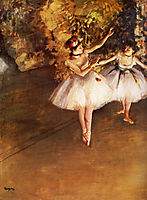 Two Dancers on Stage, 1877, degas