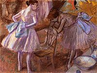 Two Dancers in Their Dressing Room, c.1880, degas