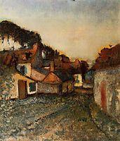 Village Street, c.1898, degas