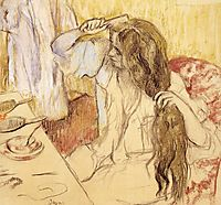Woman Brushing Her Hair, c.1889, degas