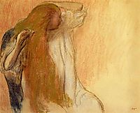 Woman Combing Her Hair , 1894, degas