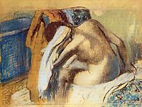 Woman Drying Her Hair, c.1898, degas