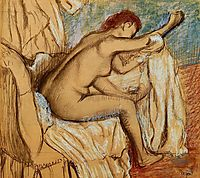 Woman Drying Herself, c.1886, degas