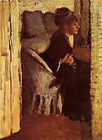 Woman Putting on her Gloves, c.1877, degas