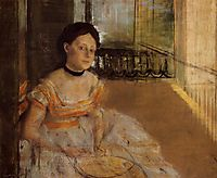 Woman Seated on a Balcony, 1872, degas