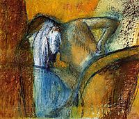 Woman Seen from Behind, Drying Hair, c.1910, degas