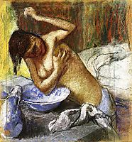 Woman Sponging Her Chest, c.1892, degas