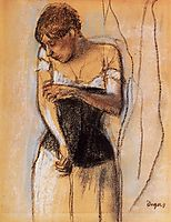 Woman Touching Her Arm, c.1883, degas