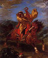 An Arab Horseman at the Gallop, 1849, delacroix