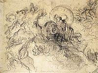 Apollo Slays Python, 1850, delacroix