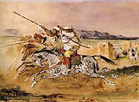 Arab Fantasia, 1832, delacroix