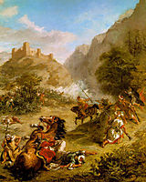 Arabs Skirmishing in the Mountains, 1863, delacroix